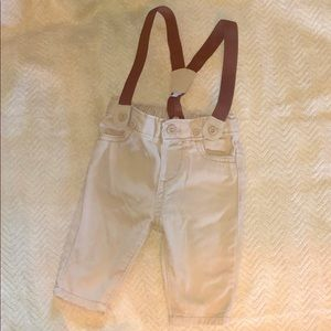 Baby B'gosh 3m Suspenders and Pant Set boy